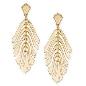 Kendra Scott Gold Luca Statement Earrings